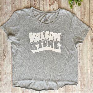 Volcum gray crop shirt EUC XS